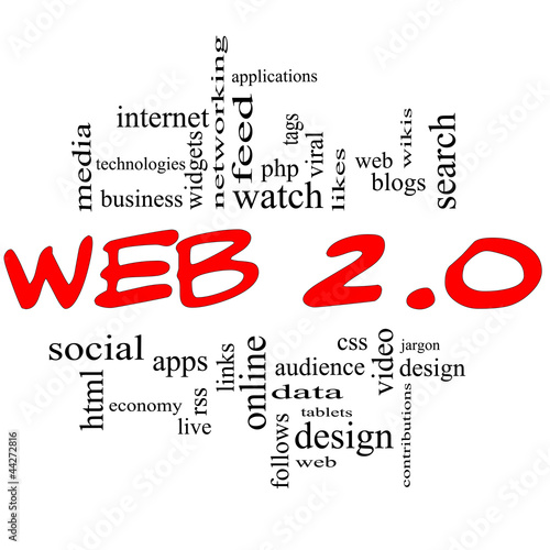 Web 2.0 Word Cloud Concept in red & black
