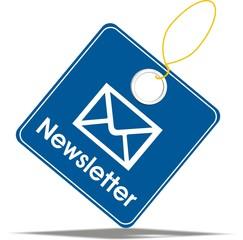 étiquette newsletter