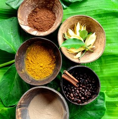 Spice for Asian spa with tropical flower