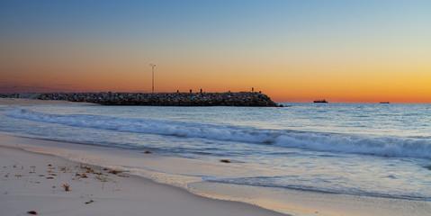 Cottesloe Beach, sunset coast, Australia
