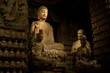 Thousand-year old Buddha from the Grottoes of Zhongshan Mountain