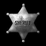 The old sheriff's badge