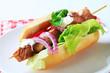 Pork kebab sandwich