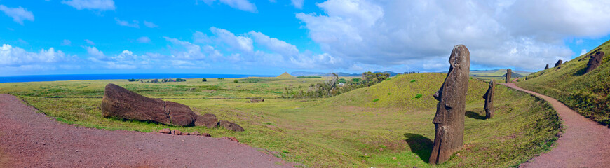 Easter Island - Panoramic View of the Ahu Ranu Raku