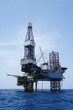 Offshore Jack Up Drilling Rig Over The Production Platform