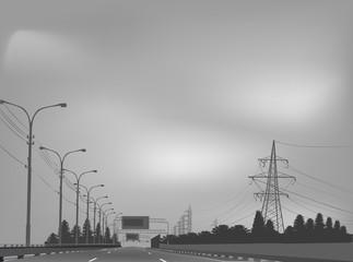 electrical pylons near free street