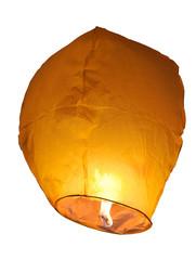 yellow lantern isolated on white