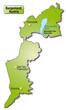 Übersichtskarte des Kantons Burgenland