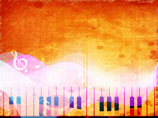Stylized retro musical background.