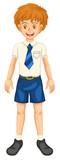 Boy in school dress