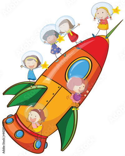 kids on rocket