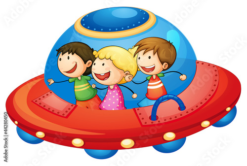 kids in spaceship