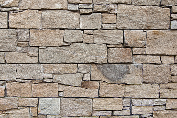stone wall with rectangle stones
