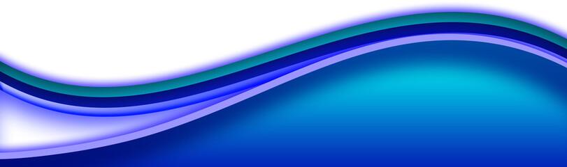 Blue swoosh