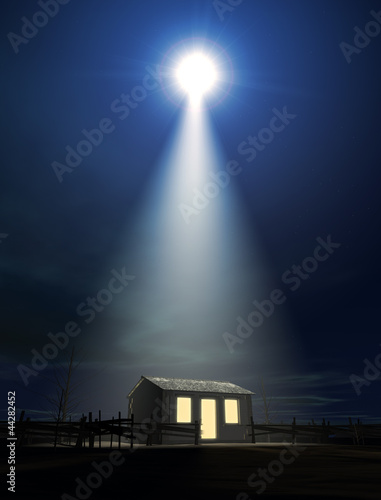Christ's Birth In A Stable