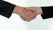 Händedruck zwischen Geschäftsmann und Geschäftsfrau