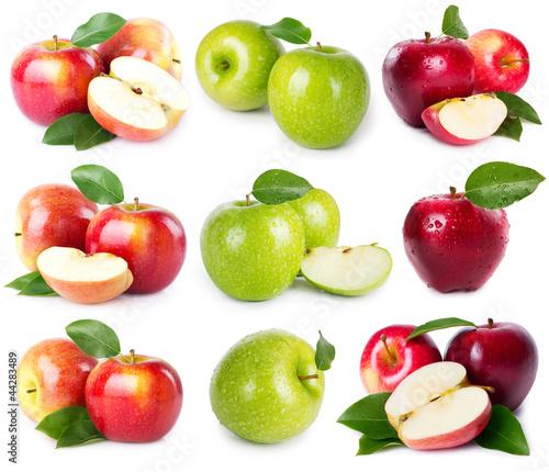 Fototapeten,äpfel,obst,isoliert,collage