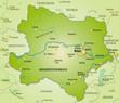Übersichtskarte des Kantons Niederösterreich mit Umland