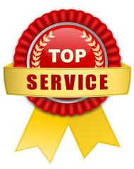 Icon Plakette top Service