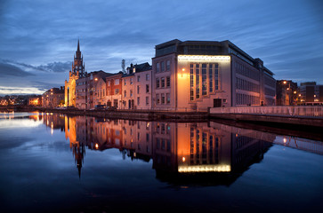 river lee reflection at twilight