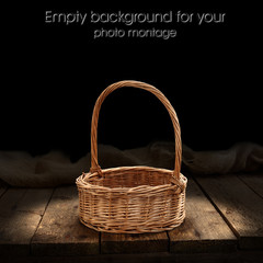 basket with empty space for your photo montage