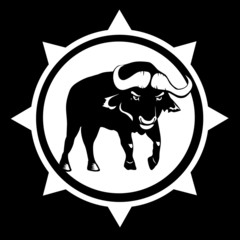 Tribal Bull - Vector bison