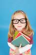 Bücherwurm mit Brlle