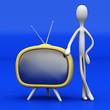 Fernseher präsentieren