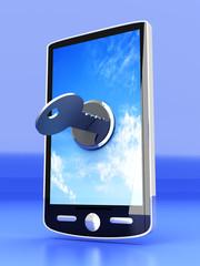 Verschlossenes Smartphone