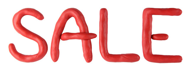 Plasticine red sale text