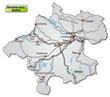 Autobahnkarte des Kantons Oberösterreich