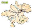Straßenkarte des Kantons Oberösterreich