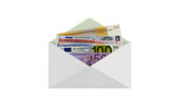 Envelope money euro