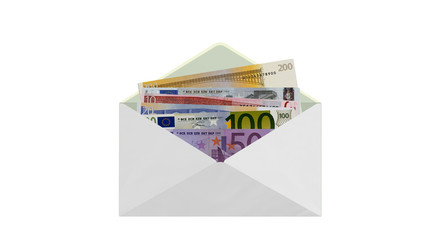 Envelope money euro