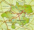 Umlandkarte des Kantons Oberösterreich