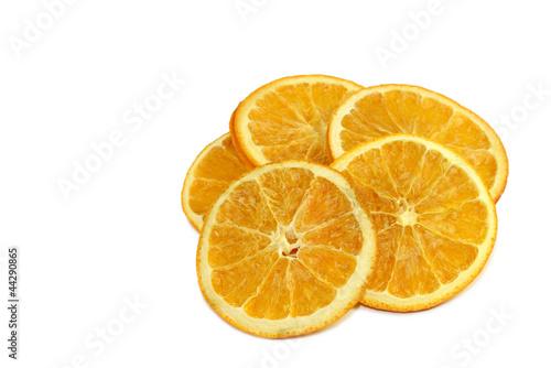 Fotobehang Plakjes fruit Apfelsinenscheiben