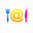 Internet kitchen business logo.