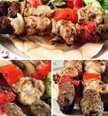 Kebab and chicken mix.