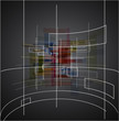 Abstract dark technology cube background texture