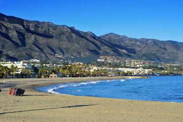Rio Verde Beach in Marbella, Spain