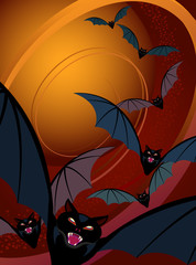 Halloween Background-Bats