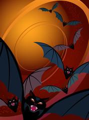 Halloween Background-Bats