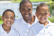 African American Father & Sons Man and Boys