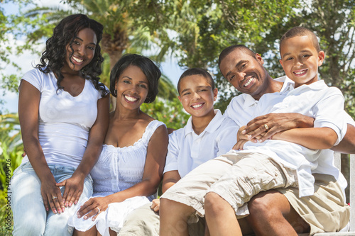 African American Family Parents and Children