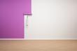 Wand wird violett gestrichen