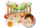 Allergia da polline poster