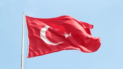 Waving Turkish flag. 1080 HD video. - Silent -