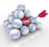 Import Export Pyramid Balls Trade Imbalance Defecit poster