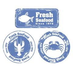 Stamp of sea animals