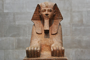 Egyptian sphinx in The Metropolitan Museum of Art